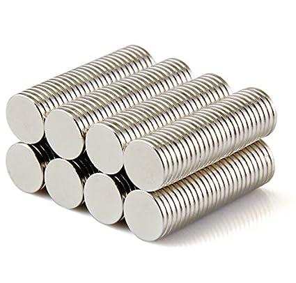 Sunkee 100pcs Pequeño y redondo imanes de disco de diámetro 8 mm x 1 mm de