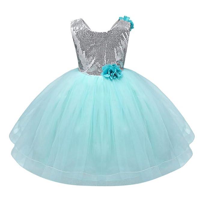 Amazon.com: Vestido de princesa para bebés de 1 a 5 años ...