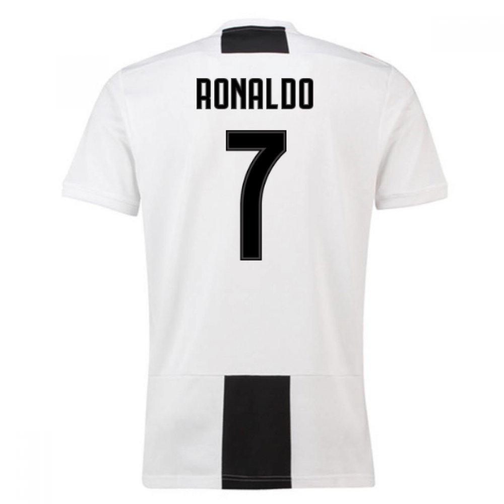 2018-19 Juventus Home Football Soccer T-Shirt Camiseta (Cristiano Ronaldo 7) UKSoccershop