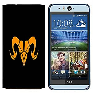 YiPhone /// Prima de resorte delgada de la cubierta del caso de Shell Armor - Naranja Taurus sesión - HTC Desire Eye M910x