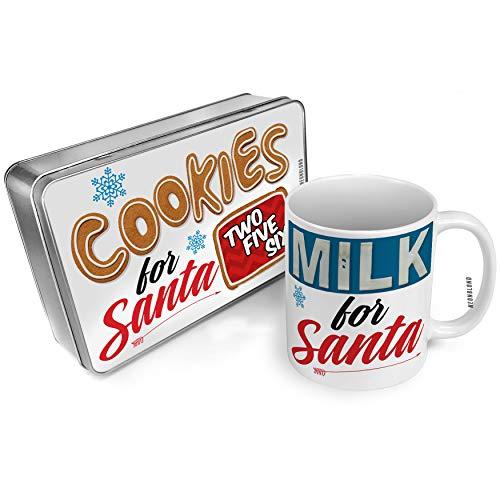 NEONBLOND Cookies and Milk for Santa Set 256 Huntsville, AL red Christmas Mug Plate Box ()