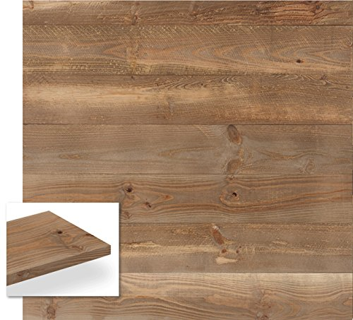 Timberwall - SKID Collection Wooden Pallet - DIY Solid Wood Wall Panel - Nails and Staple application - 9.5 Sq Ft (Brown Nail Panel)