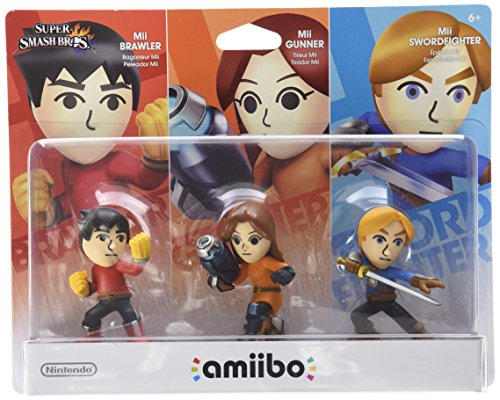 Mii 3-pack - Brawler, Gunner, Swordfighter amiibo (Super Smash Bros Series)
