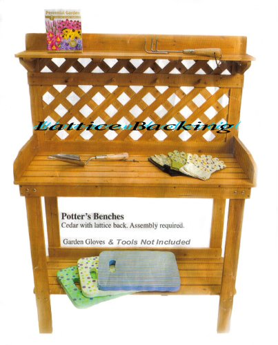 Cedar Potting Bench Potters Table For Garden