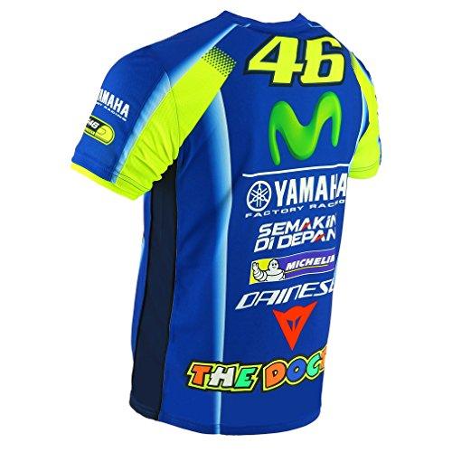 Valentino Rossi Replica-Yamaha Dual-Racing T-Shirt Homme