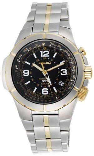 Seiko Men's SUN010 Kinetic Flight Computer Watch