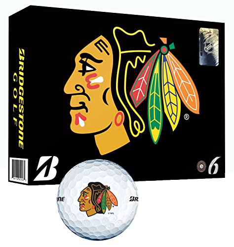 New Bridgestone NHL E6 Golf Balls, Chicago Blackhawks
