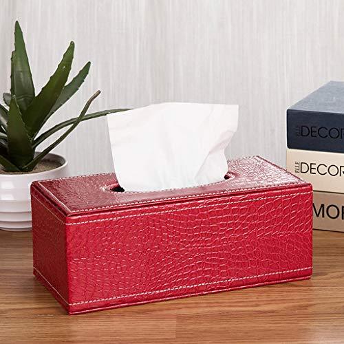 BLUEDYYY Leatherette Tissue Box Holder for Home Office, Car Automotive Decoration Car Kleenex Box Rectangle Facial Tissue Box Holder Napkin Storage Caddy Paper Dispenser,F,S (Fs Tissue Holder)