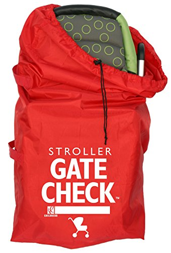 J.L. Childress Gate Check Bag For Standard and Double Strollers, Red