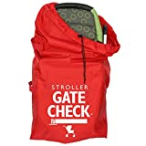 J. L. Childress Gate Check Air Travel Bag for Standard and Double Strollers, Red