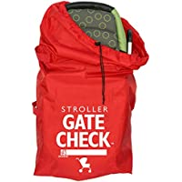 JL Childress Gate Check Bag for Single & Double Strollers (Red)
