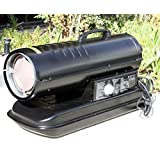Outdoor Space Heater Black Portable Air Kerosene Diesel Fuel Forced 70,000 BTU Warehouse Heaters - Skroutz