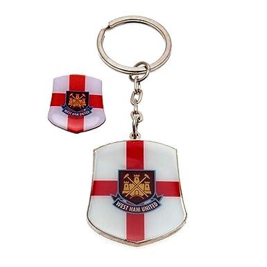 West Ham United FC - Juego de llavero y pin con la bandera ...
