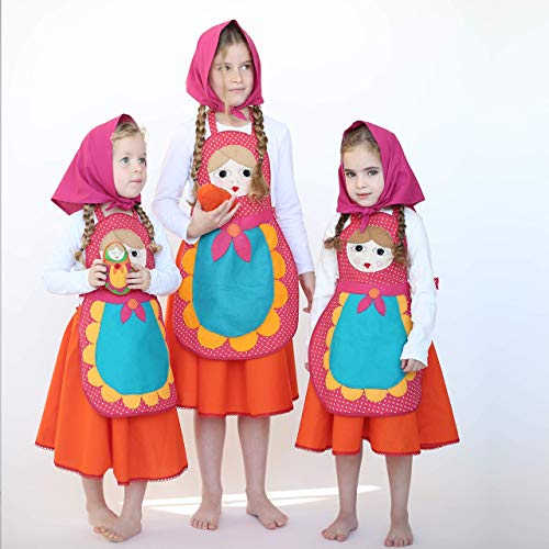 Russian nesting doll costume for girls ()
