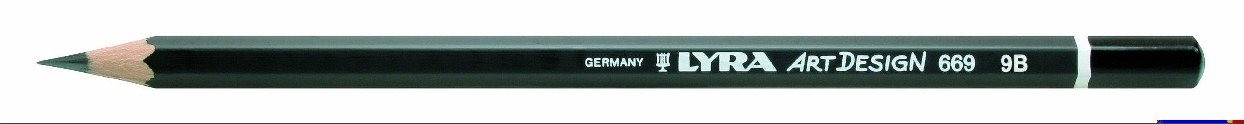 LYRA Rembrandt Art Design Drawing Pencil, 9B Lead, 1 Pencil (1110109)