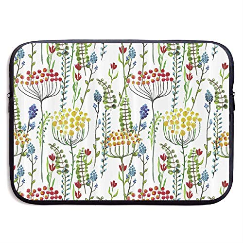 Floral Pattern Laptop Sleeve Case Bag Cover For 13-15 Inch N