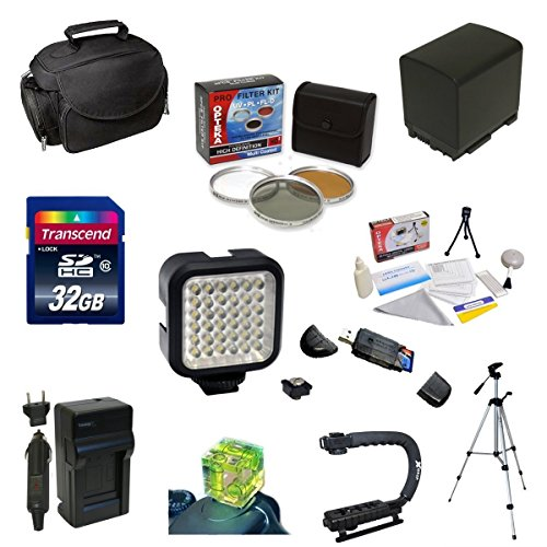 Must Have Accessory Kit For the Canon Vixia HF G10, HF G20, HF G30, HF S20, HF S21, HF S30, HF S200 Includes 32GB High Speed Error Free SDHC Memory Card + SDHC Card Reader + 58MM 3 Piece Pro Filter Kit (UV, CPL, FLD) + BP-828 Extended Life Replacement Bat by Opteka