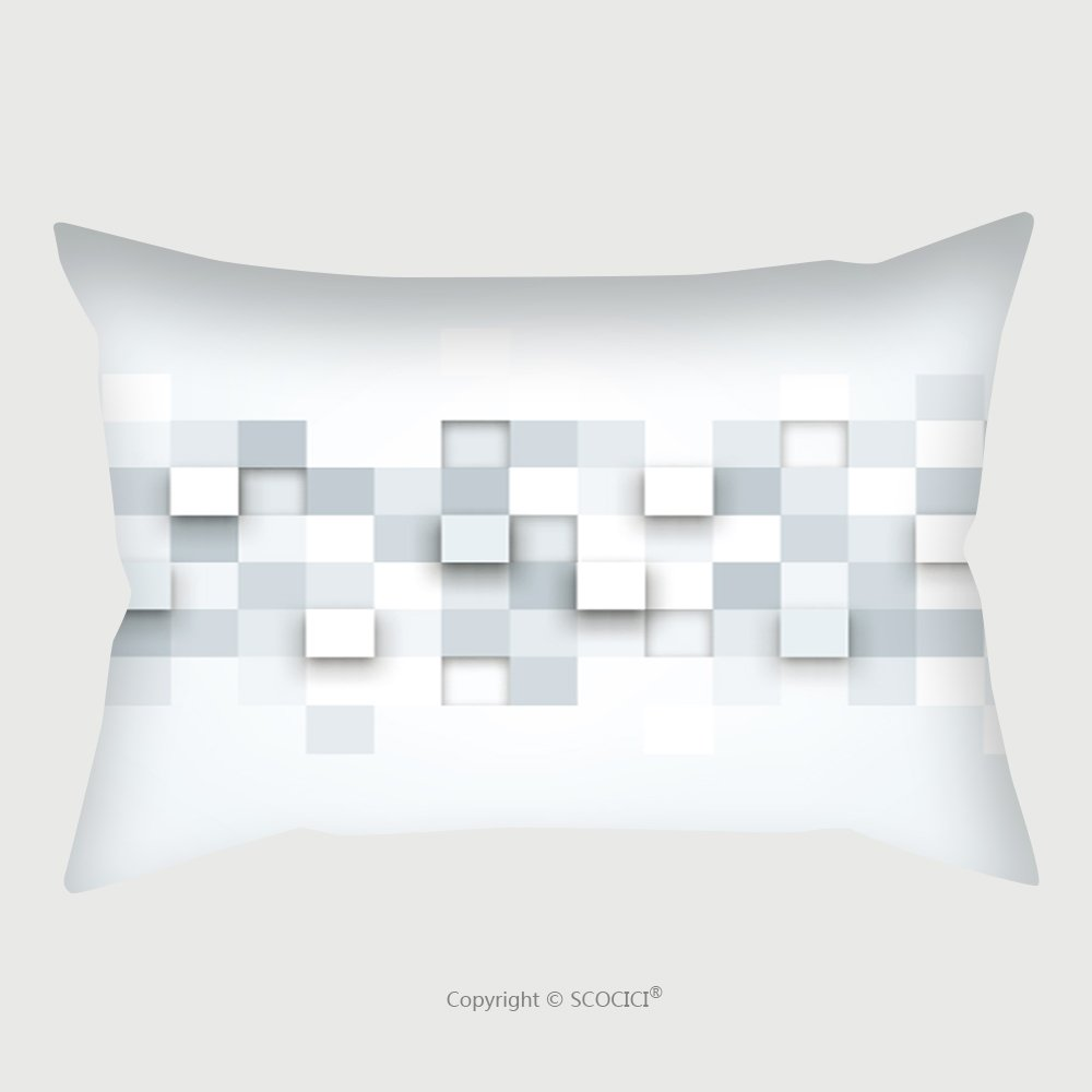 Custom Satin Pillowcase Protector Vector Background Illustration Of Abstract Texture With Squares Pattern Design For Banner Poster 224856823 Pillow Case Covers Decorative