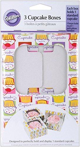 Holds 1 Standard Cupcake - Wilton Cupcake Boxes - Holds 1 Standard Cupcake-Cupcake Heaven