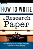 How to Write a Research Paper, Chastain, Emma, 1411423410