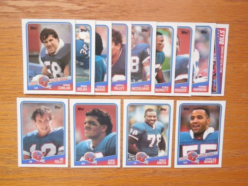Buffalo Bills 1988 Topps Football Team Set (PLUS RECEIVE A FREE Thurman Thomas 1990 Topps Card) (AFC Eastern Champions) (Cornelius Bennent Rookie) (Mark Kelso Rookie) (Shane Conlan Rookie) (Ronnie Harmon Rookie) (Jim Kelly) (Andre Reed) (Bruce Smith) (Darryl Talley) (Pete Metzelaars)