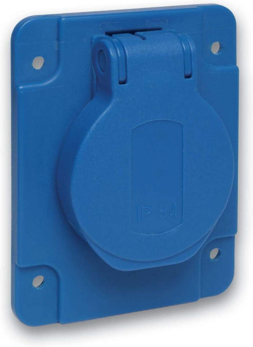 2P+E 65x85mm IP54 250 V 10//16A Schneider PKS61B Schukosteckdose blau f/ür De