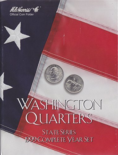 1999 COMPLETE YEAR SET STATE SERIES QUARTERS HARRIS 8HRS2582 COIN; ALBUM, BINDER, BOARD, BOOK, CARD, COLLECTION, FOLDER, HOLDER, PAGE, PORTFOLIO, PUBLICATION, SET, VOLUME