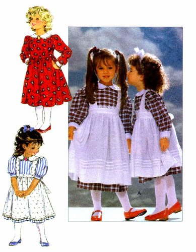 - Toddler Girls Dress and Pinafore Eileen West Butterick 4404 Sewing Pattern Size 1 - 2 - 3