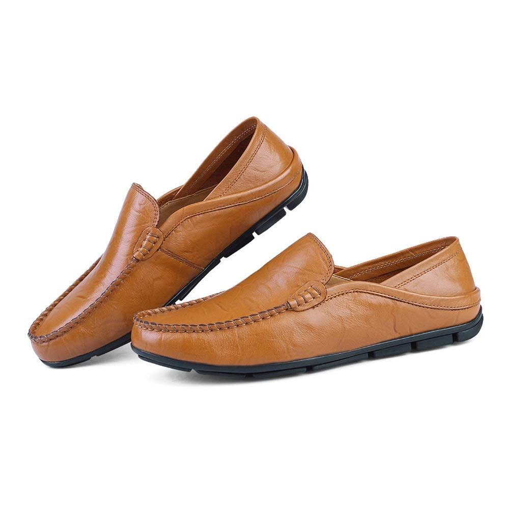 Xujw schuhe, 2018 Herren Mokassins Männer Wave Sohle Soft On & Super Light Slip On Soft Fashion Mokassins Driving Loafer (Farbe : Gelb, Größe : 42 EU) 8e24a5
