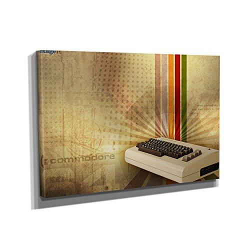 Vintage Computer - Kunstdruck auf Leinwand - Format: 90 x 60 cm