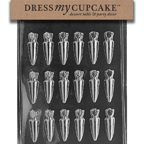 - Dress My Cupcake Chocolate Candy Mold, Small Carrots, Easter