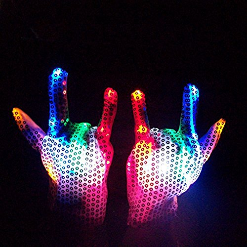 Party Lovers Multi Color Led Light Up Flashing Sequin Cos...