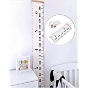 Bingolar Kids Canvas Height Growth Chart Art Hanging Rulers for Kids Bedroom Nursery Wall Decor Removable Height and Growth Chart 7.9 x 79in