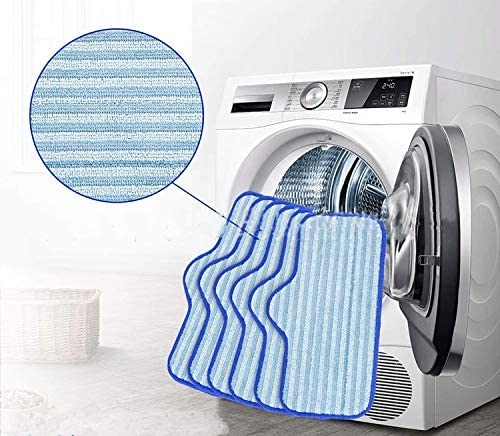 5 Pack Replacement Microfiber Pads Compatible with Dupray Neat Steam Cleaner Multipurpose Heavy Duty Steamer Mop