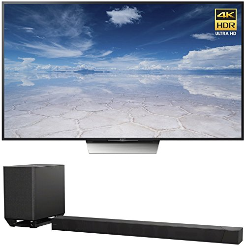 Sony 85-Inch Class 4K HDR Ultra HD TV (XBR-85X850D) with Sony 7.1.2ch 800W Dolby Atmos Sound Bar