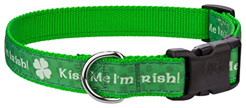 - Country Brook Design | Deluxe Kiss Me I'm Irish Ribbon Dog Collar - Extra Large