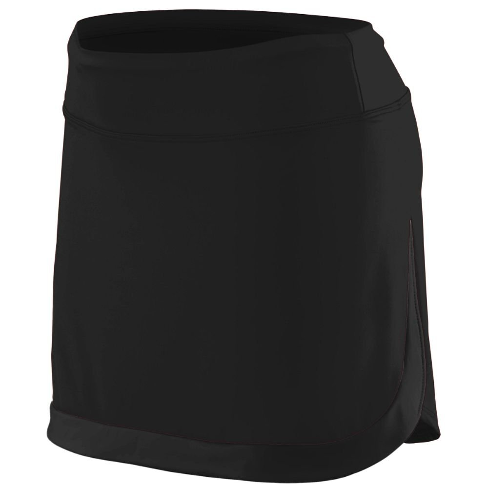 Augusta Sportswear Augusta Ladies Action Color Block Skort, Black, Medium