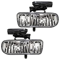 Driver and Passenger Fog Lights Lamps Replacement for GMC Pickup Truck SUV 10385054 10385055