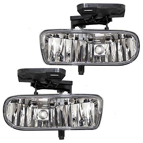 2500 Replacement Fog Light (Driver and Passenger Fog Lights Lamps Replacement for GMC Pickup Truck SUV 10385054 10385055)