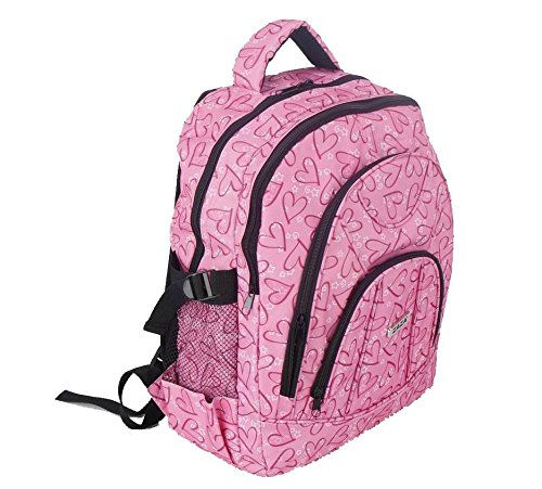 a2bcaa31de ZAZAⓇ Girls or Ladies Retro Pink School College University Backpack Rucksack  (Retro Pink)  Amazon.co.uk  Luggage