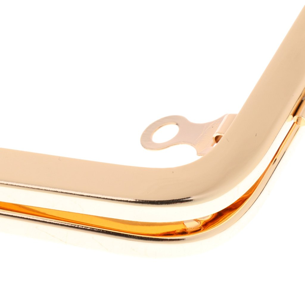 MagiDeal Metal Kiss Frame Clasp Lock for Coin Purse Handle Bag Accessories Craft DIY Gold