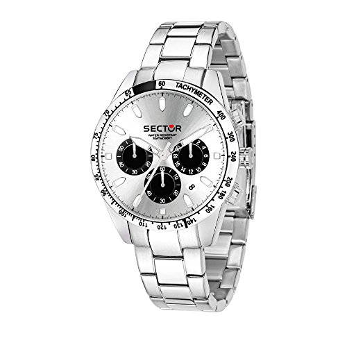 SECTOR Men's '245' Quartz Stainless Steel Sport Watch, Color Silver-Toned (Model: R3273786007)