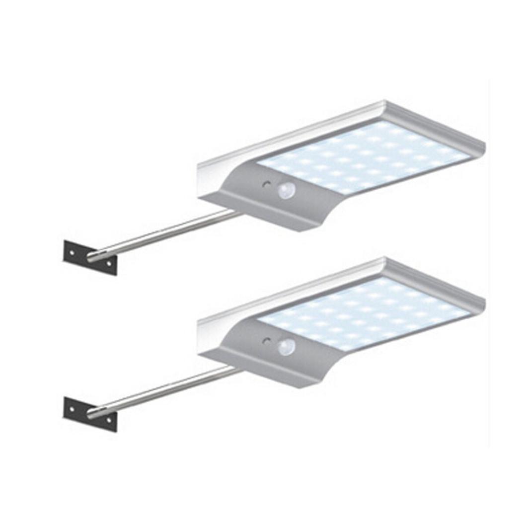 Livoty 36 LED Solar Motion Sensor Lights Garden Safety Lights 2 PCS (White)
