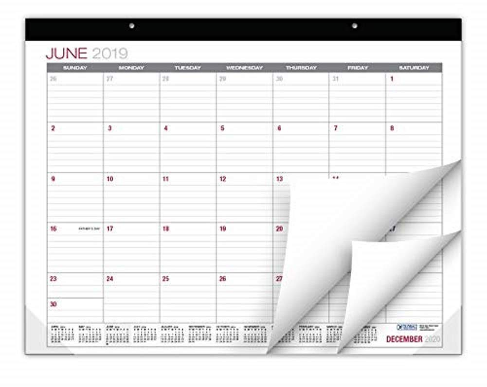 Professional Desk Calendar 2019-2020: Large Monthly Pages - 22''x17'' - Runs from June 2019 Through December 2020 - Desk/Wall Calendar can be Used Throughout 2019-2020 by Global Printed Products