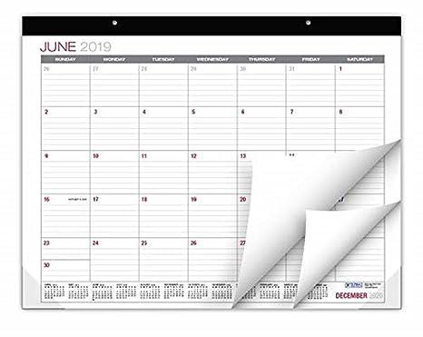 Amazon.com: Professional Desk Calendar 2019-2020: Large ...