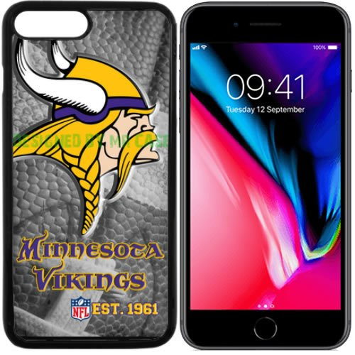 Vikings Minnesota Football New Black Apple iPhone 8 PLUS Case By Mr Case
