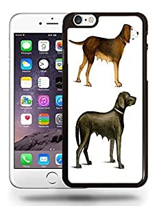 Vintage Dog Drawing Sketch Art Phone Case Cover Designs for iPhone 6 Plus