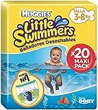Huggies Little Swimmers - Bañadores desechables, Talla 2 - 3 (3-8 kg), 20 unidades