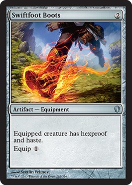 Magic: the Gathering - Swiftfoot Boots (263/356) - Commander 2013