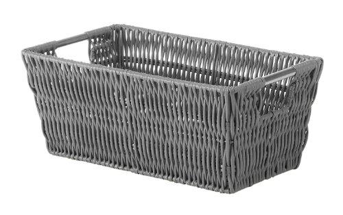 Whitmor Rattique Small Shelf Tote Grey ()